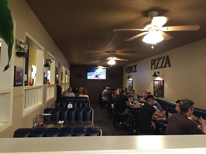 Venice Pizza House and its old-school interior