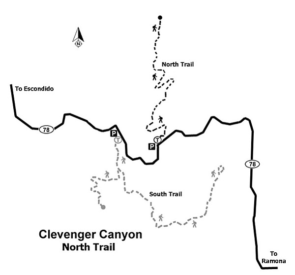 Map of Clevenger Canyon