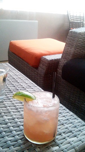 Watermelon Margarita in the outdooor lounge