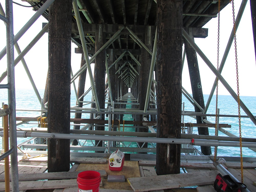 Replacement of the crossbeams is a years-long work-in-progress