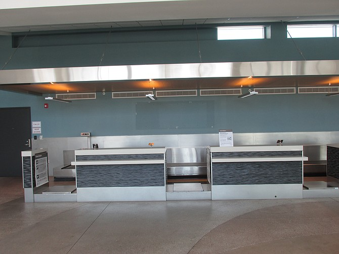 Biz Air's former counter at McClellan-Palomar Airport