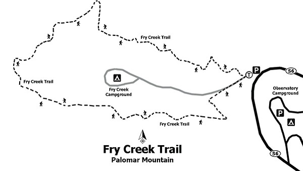 Map of Fry Creek