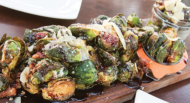 Brussels sprouts at Bo-Beau Kitchen + Garden
