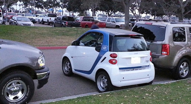 Tail-in or nose-in, SmartCar drivers could be ticketed for parking this way