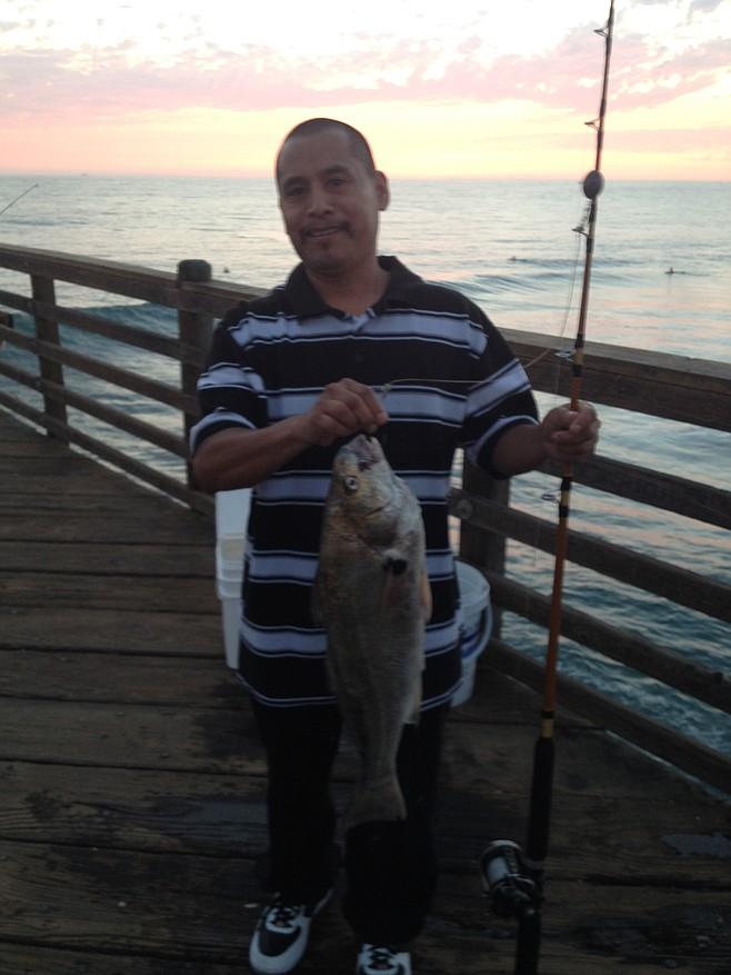 Fish report george hernandez of oceanside lands a nice for Oceanside pier fishing reports
