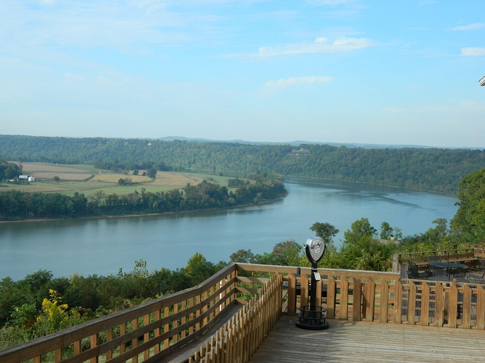 View of Ohio River/Kentucky from Overlook Restaurant.