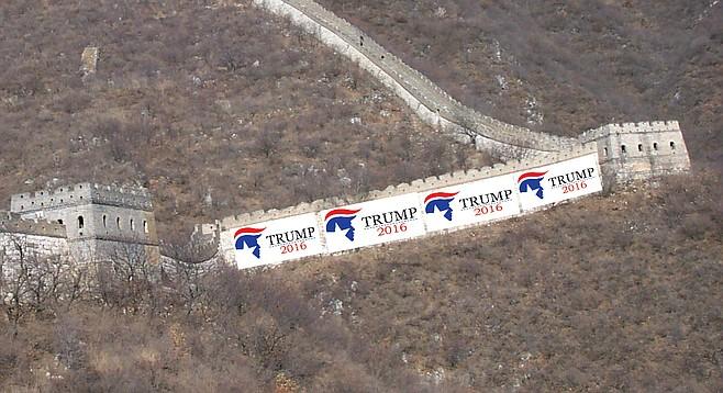 story trump border wall democrats california