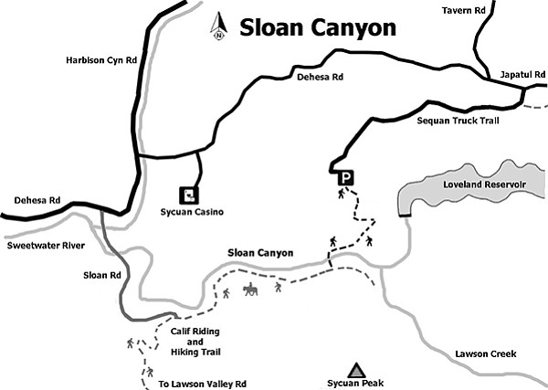 Map of Sloan Canyon