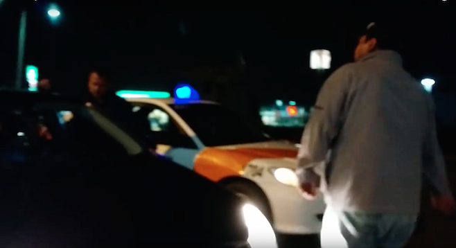Tijuana taxi drivers who stopped an Uber driver, boxing him in with their taxis