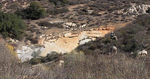 Granite erosion