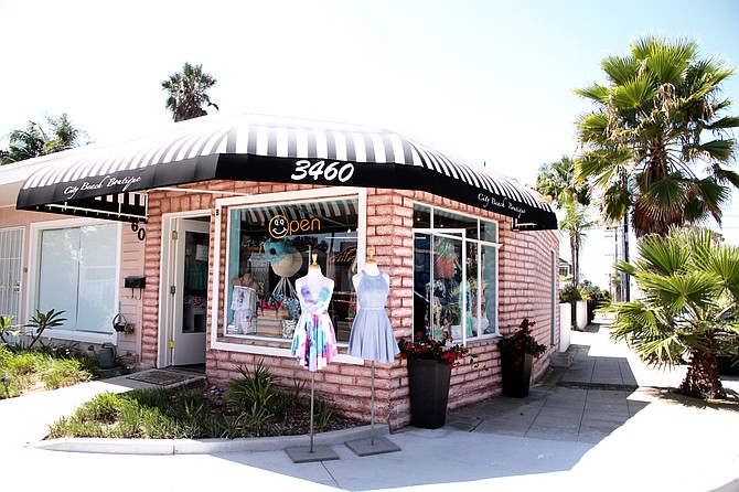 City Beach Boutique, located at 3460 Ingraham St. in Crown Point, 92109.