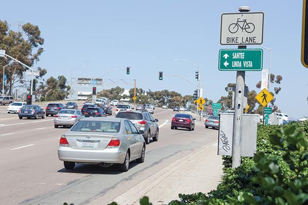 Dangerous bike spots: Friars Road, Nimitz Blvd, University