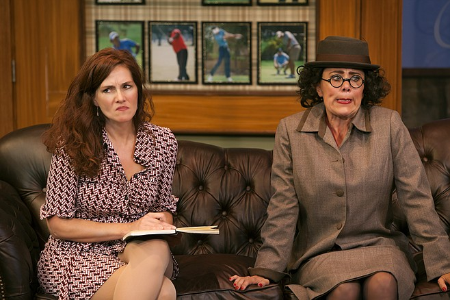 Jacquelyn Ritz and Roxane Carrasco in The Fox on the Fairway at North Coast Rep