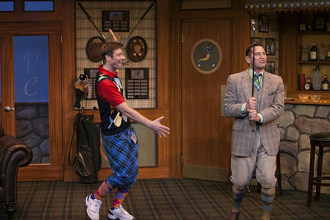 Kyle Sorrell and Kevin Bailey in The Fox on the Fairway at North Coast Rep