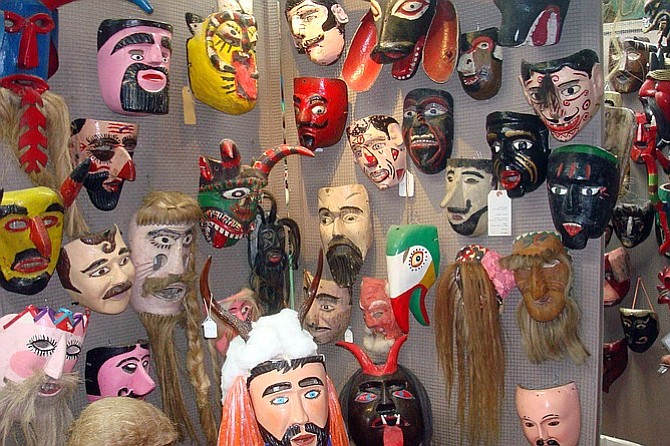 Masks for sale at the Mask Museum.