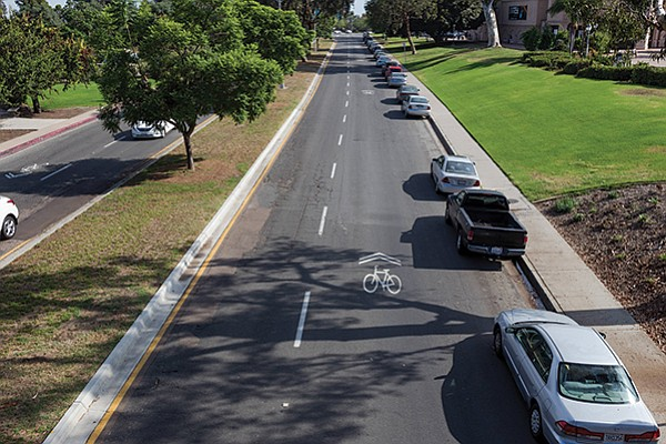 The stretch of Park Boulevard running through Balboa Park had only five collisions reported from 2007 to 2012.
