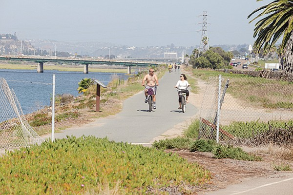 The San Diego River Pathway near Robb Field