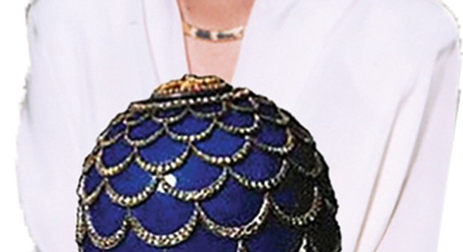 The infamous bejeweled Pine Cone Faberge egg
