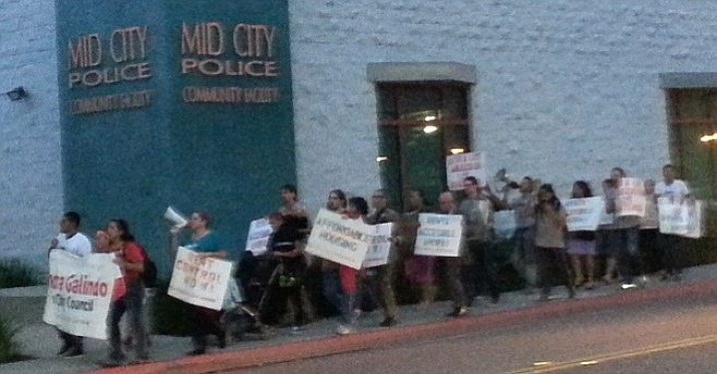 """""""We're gonna stand up for our rights — rent control in City Heights!"""""""