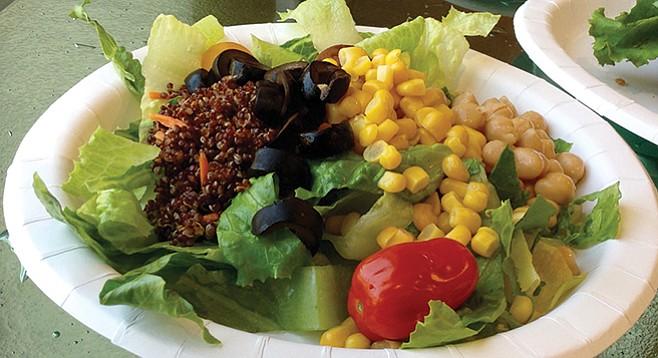 My 10.05 ounces of salad