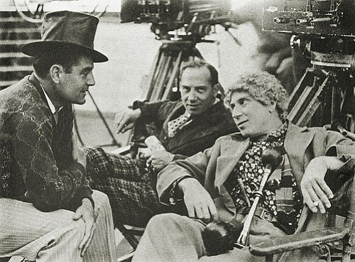 """Chico and Harpo with Leo McCarey, the man Groucho dubbed, """"The only director we ever worked with."""""""