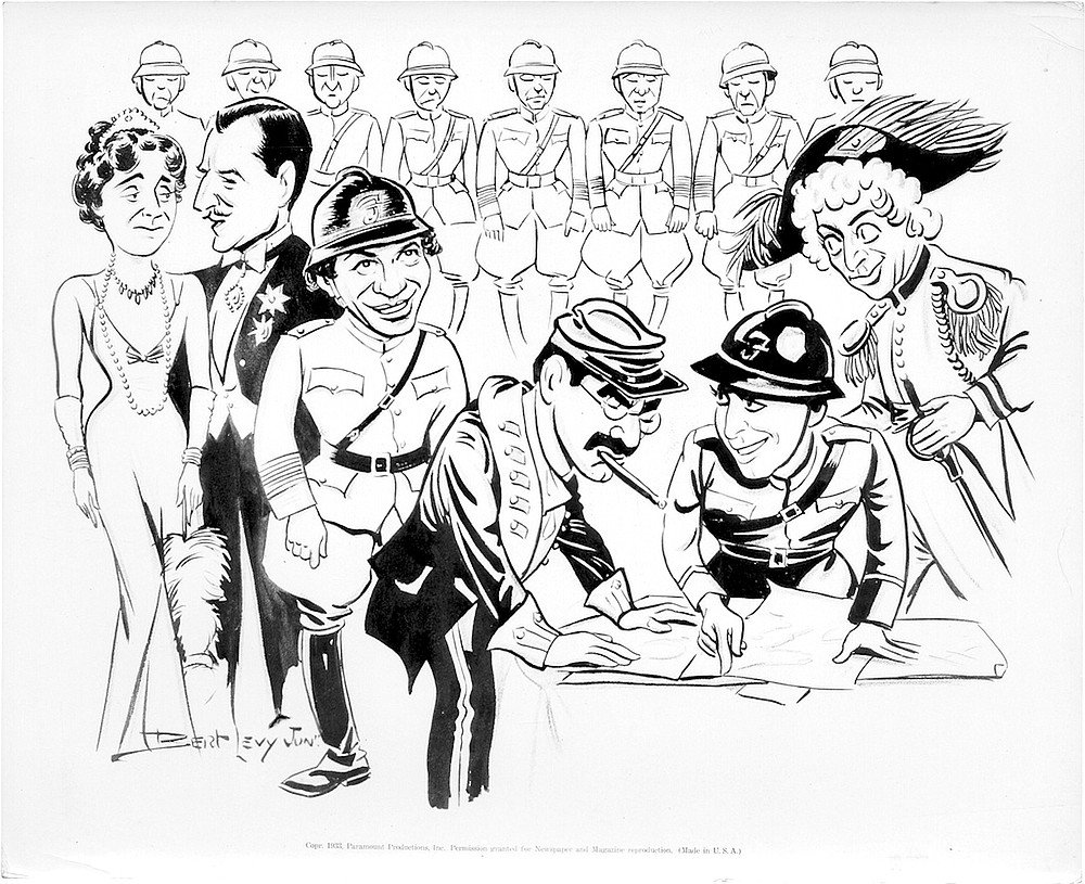 Promotional drawing by Bert Levy.