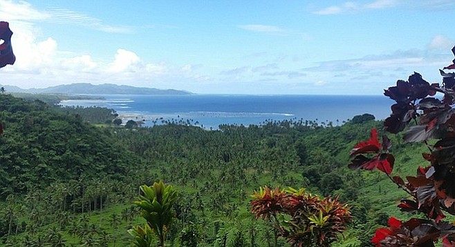 View from the trail in Qamea: a slice of Fijian paradise.