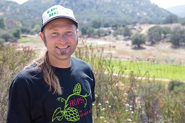 Eric March of Star B Hop Farm