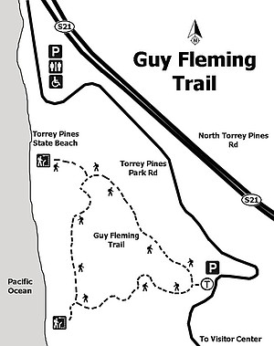 Map of the Guy Fleming Trail