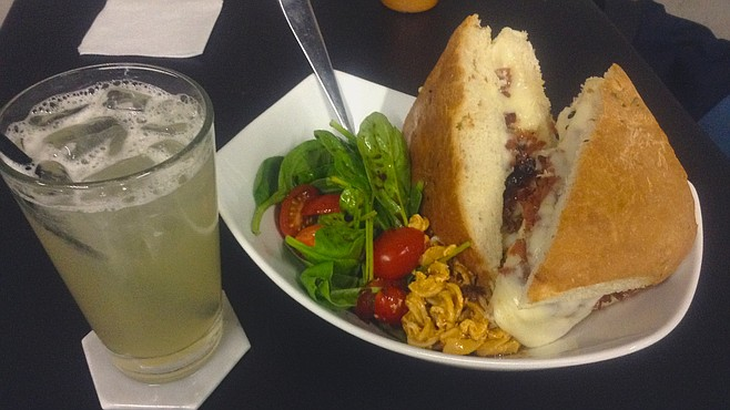 Salad, pasta, panini, and a sage lemonade for $5