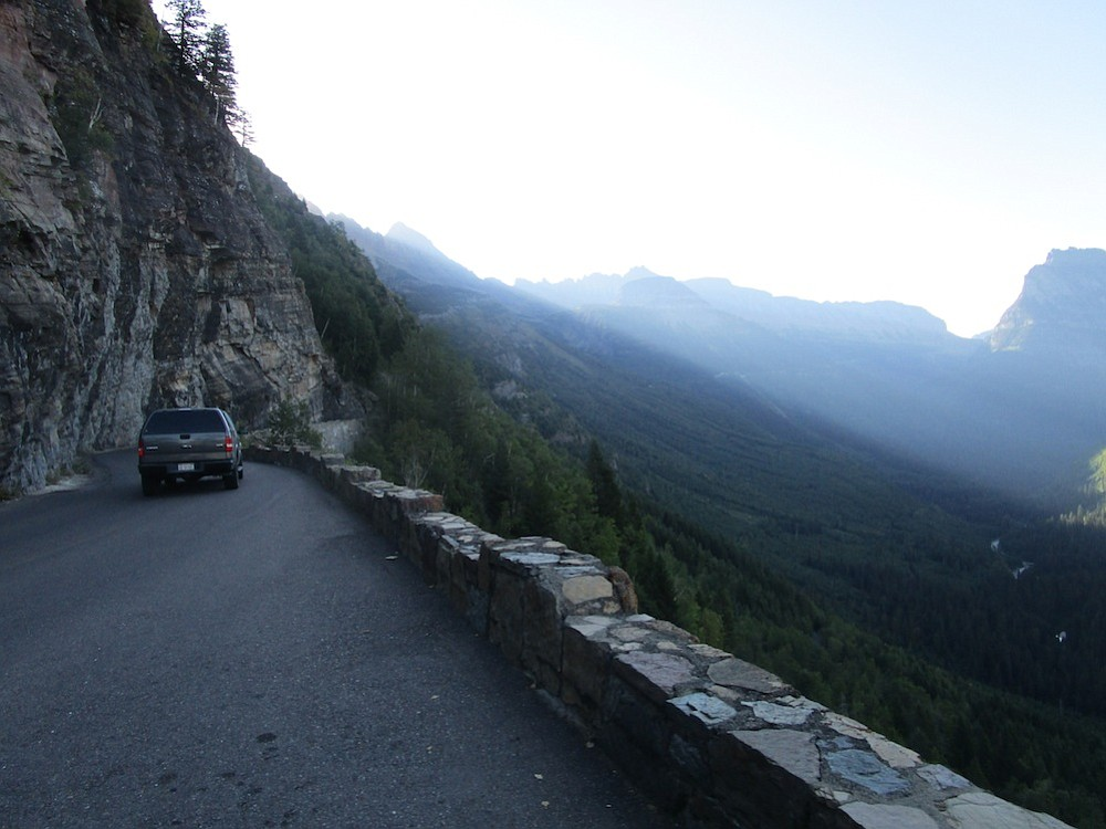 Going-to-the-Sun Road bisects the park east and west.