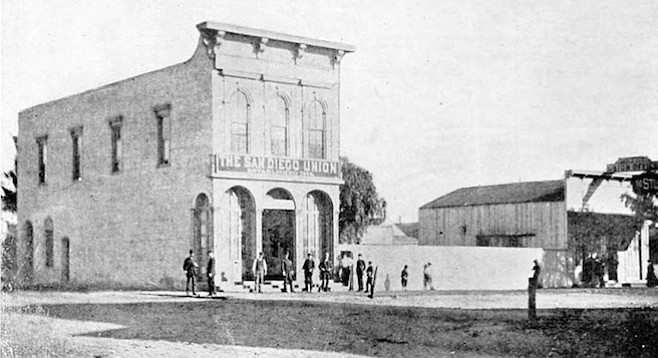 When a paper was a paper — San Diego Union building, c.1870