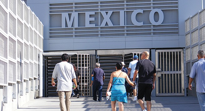 Currently, only pedestrians are required to show travel documents or proof of Mexican citizenship when entering Tijuana from San Ysidro.