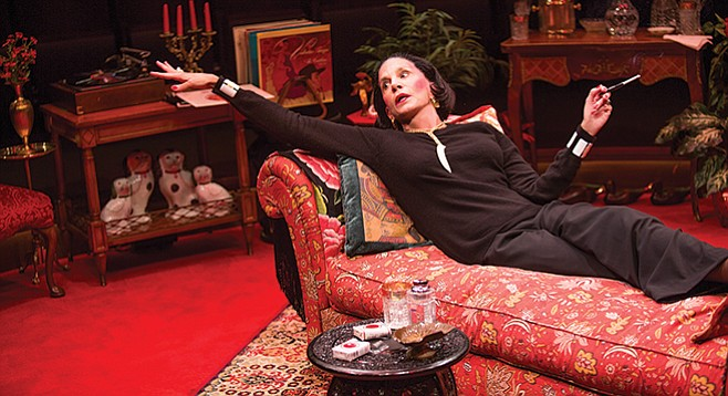 """Full Gallop's set, like Vreeland's apartment, in red on red in red, resembled """"a garden from hell."""""""