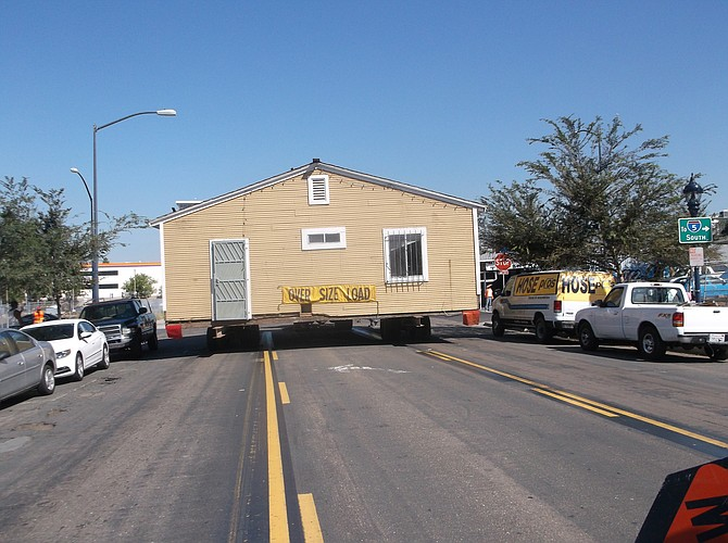 Sanford B. Myers Spec House moves out of downtown