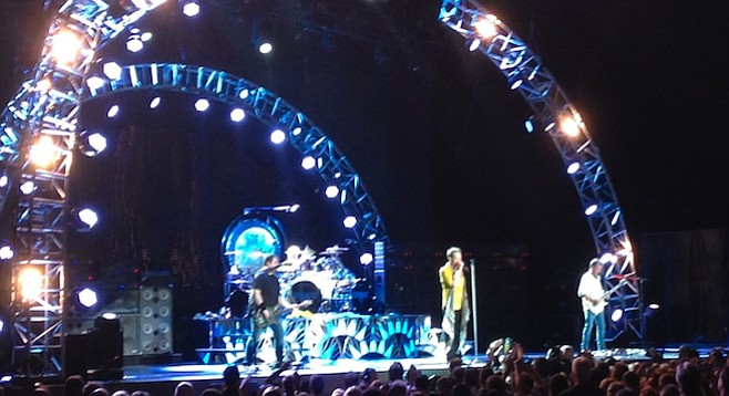 The Van Halen boys saved several songs from vocal disaster with their backing harmonies.