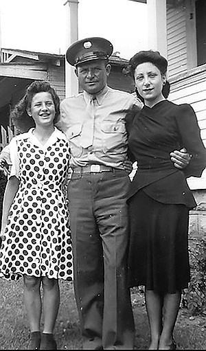 Mary Ann, Frank, and Thelma Bompensiero