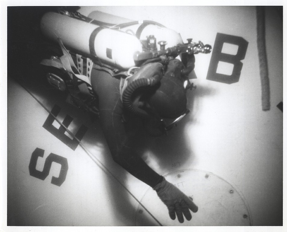 Diver outside Sealab II