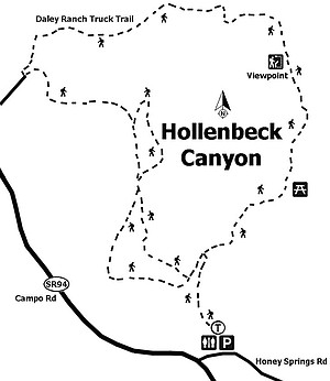 Map of Hollenbeck Canyon
