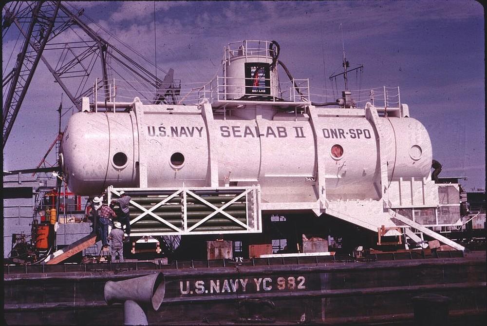Sealab II under construction