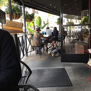 On the patio at Kensington Café