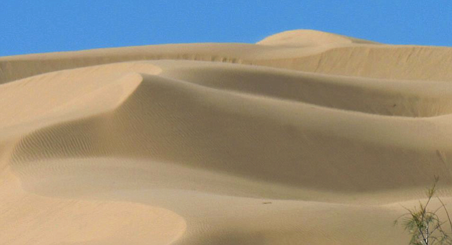 The larger dunes are on the west side of the North Algodones Dunes Wilderness (2.5 hours from San Diego).
