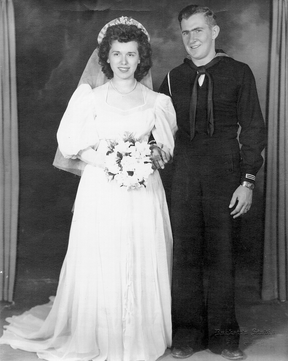 "Nellie and Dick Lovell. She warned Dick that if he didn't want a big family, he should back out. ""And he said he could handle it."""