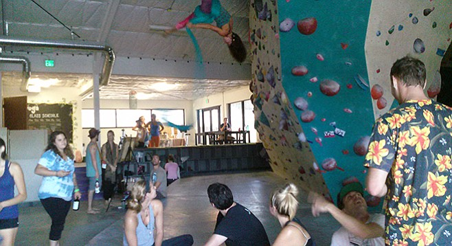 The next Rise 'n' Shine party is Tuesday, October 27, at Grotto Climbing off of Alvarado Road in Mission Valley.