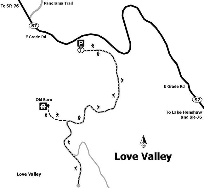 Map to Love Valley