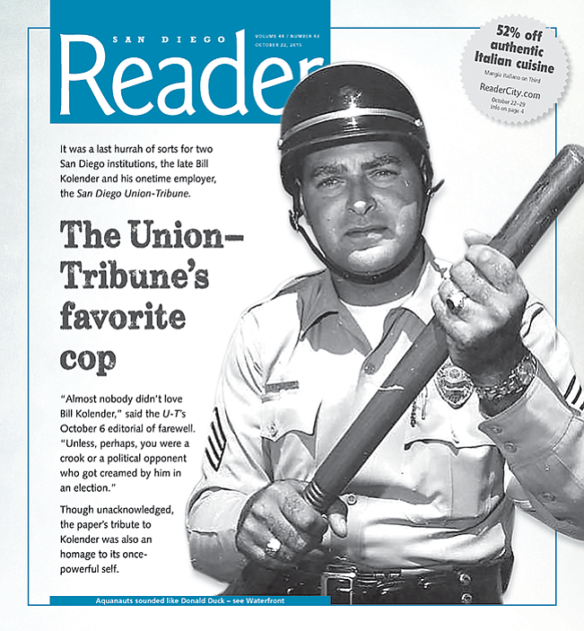 Sgt. Kolender in the '60s