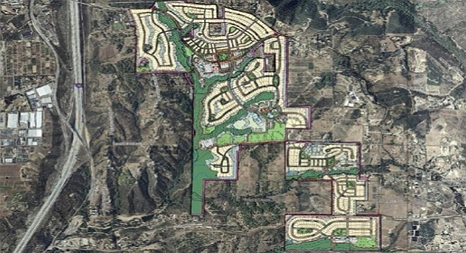 Would Bill Horn benefit from the massive Lilac Hills Ranch development?