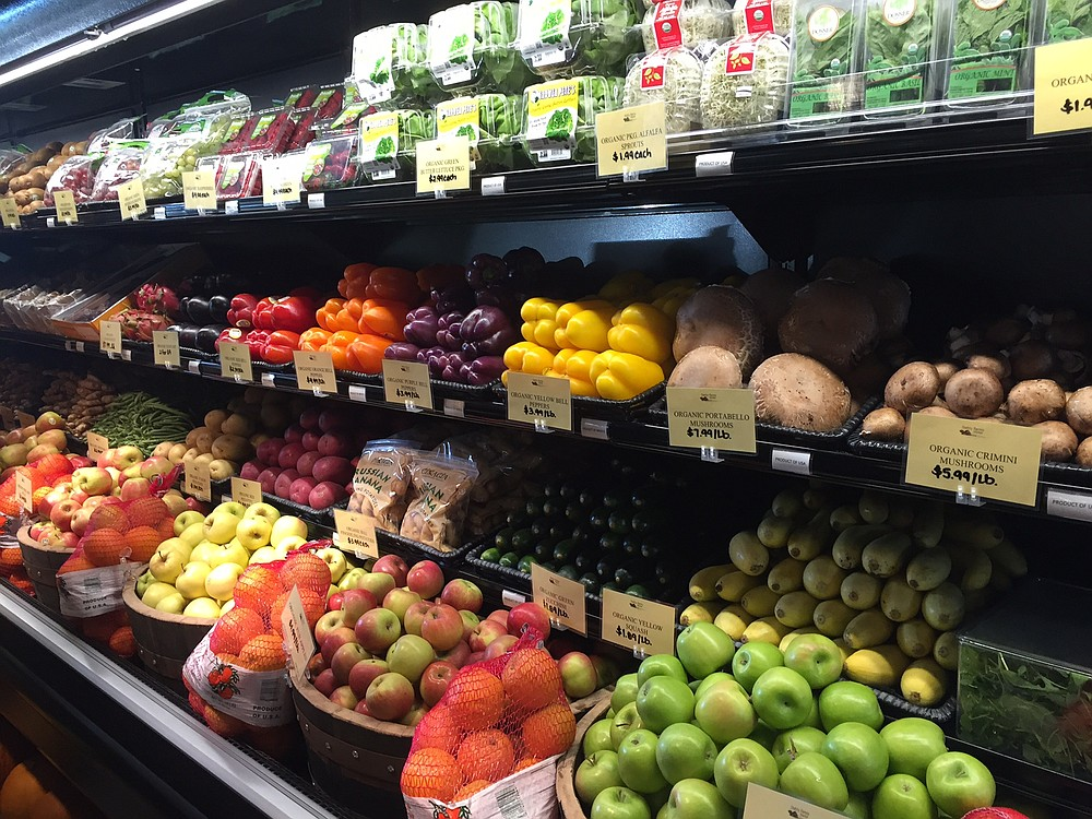 Fruits and vegetables waiting to be taken home