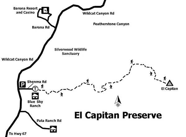 El Capitan Preserve map