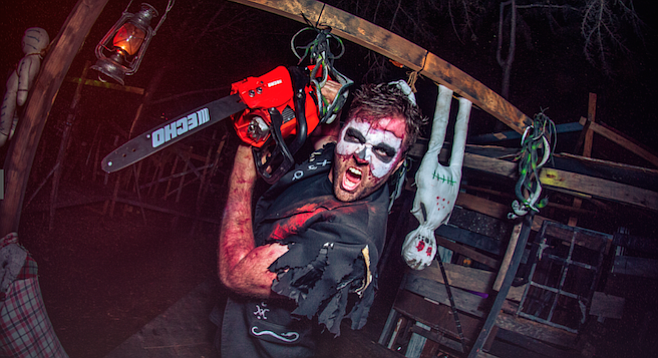 This chainsaw-toting maniac was on the trail last year
